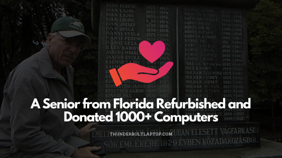 A Senior from Florida Refurbished and Donated 1000+ Computers